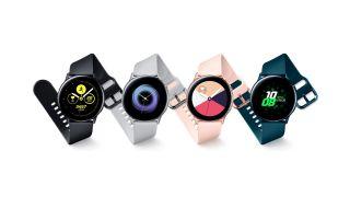 La gama de colores original para el Samsung Galaxy Watch Active