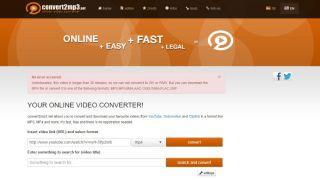 Captura de pantalla de Convert2mp3.net