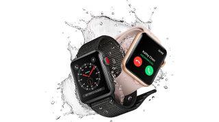 El Apple Watch 3 con su corona roja acentuada.