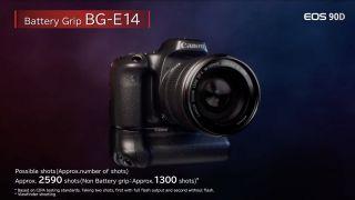 1300 disparos en estándar son muy buenos para una cámara de clase EOS 90D