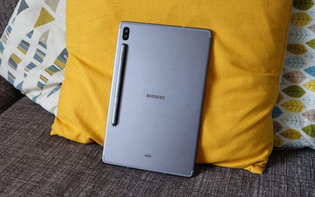 Samsung Galaxy Tab S6 Lite que figura en el sitio oficial de Samsung