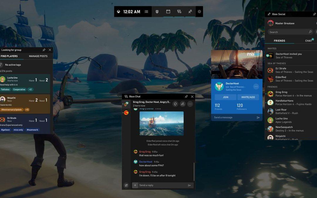 Microsoft modifica la barra de juegos de Xbox en Windows 10 para que sea realmente útil