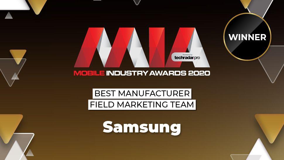 Premios de la industria móvil 2020: Samsung gana el equipo de marketing de campo de los principales fabricantes