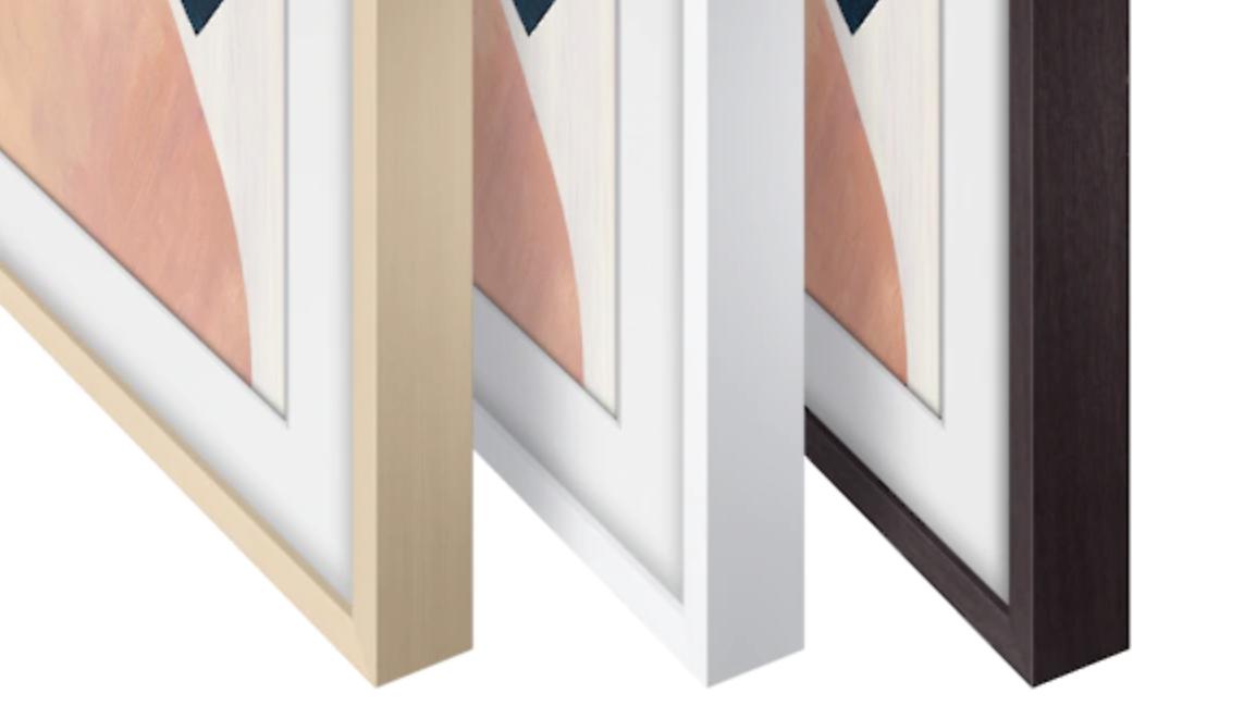 Las diferentes opciones de encuadre y color del televisor Samsung The Frame