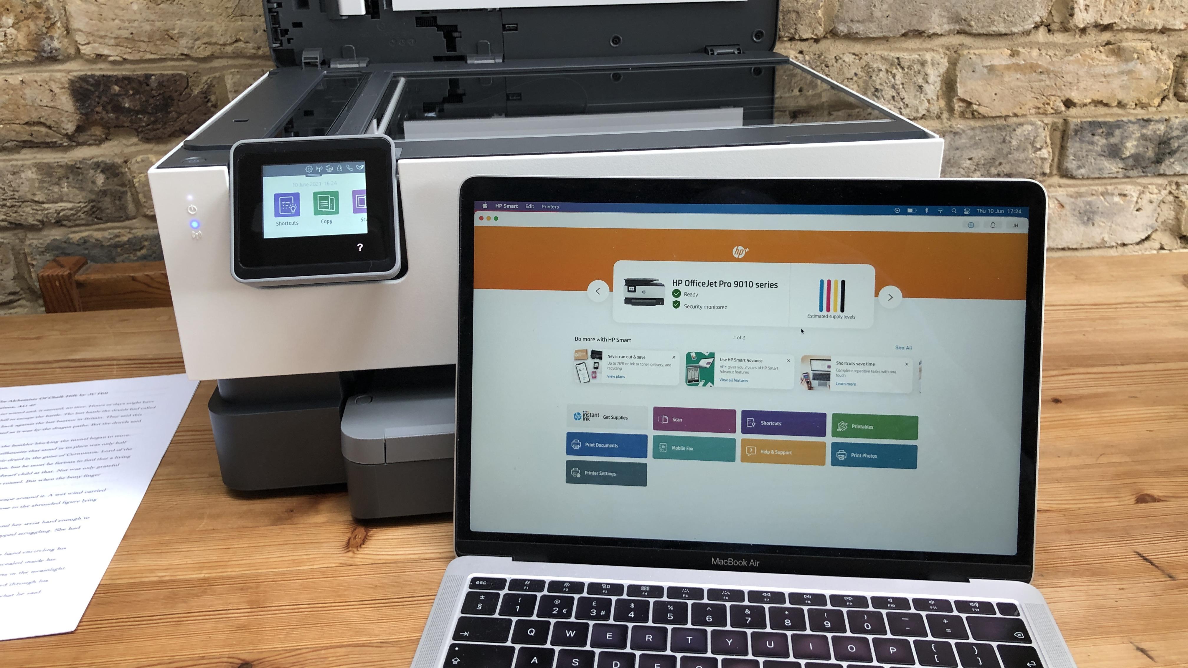 Aplicación HP OfficeJet Pro 9010e