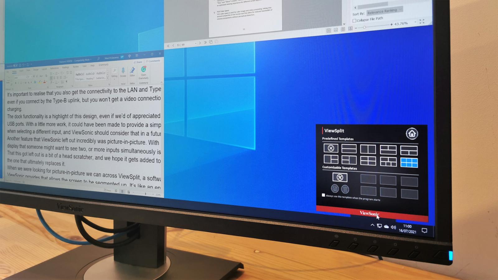 Monitor de acoplamiento ViewSonic VG3456