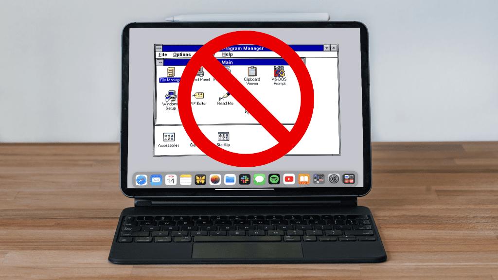 Espera: se elimina la aplicación que te permite ejecutar Windows 3.1 en tu iPad