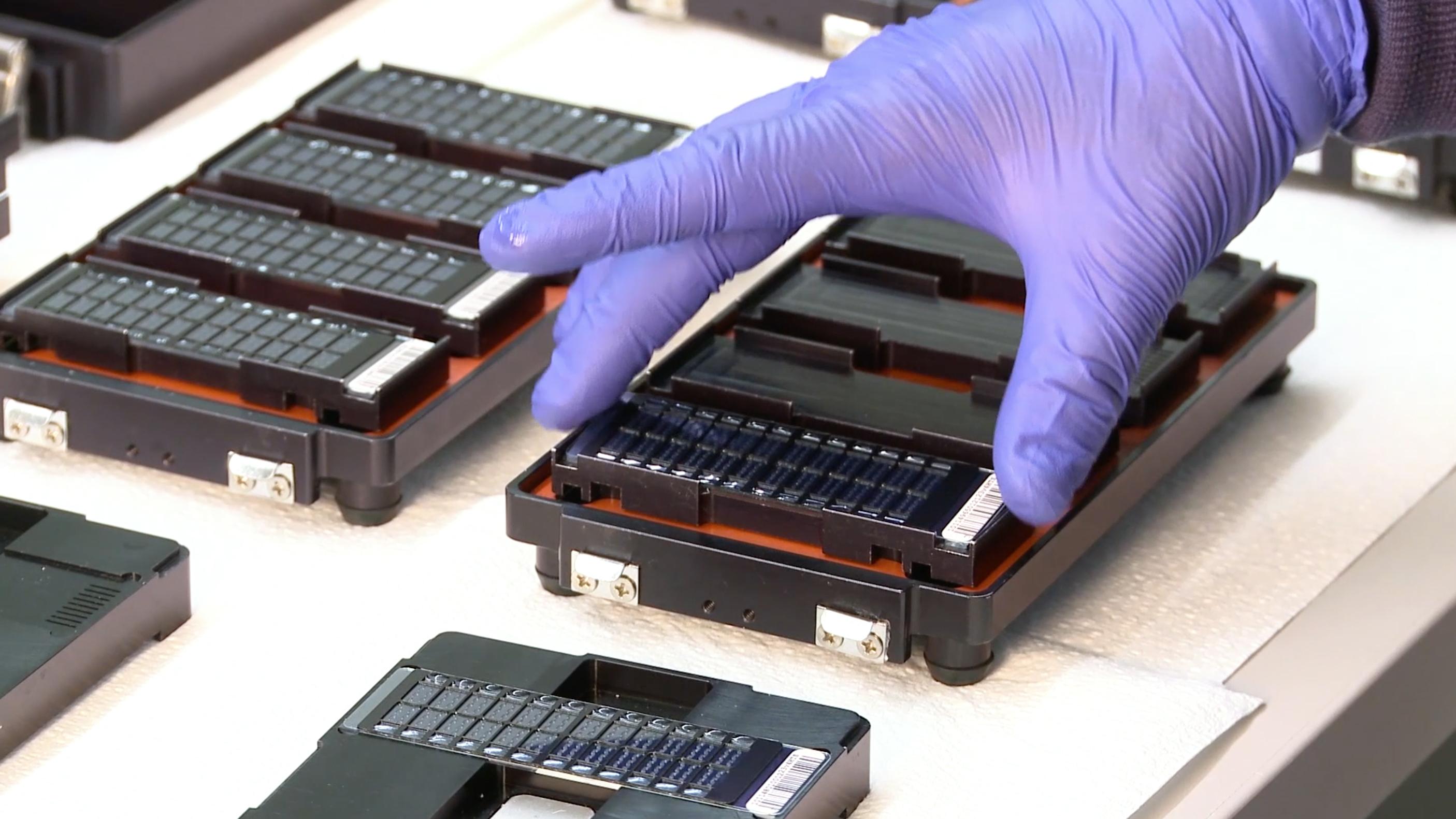 Los técnicos prueban el ADN en 23andMe