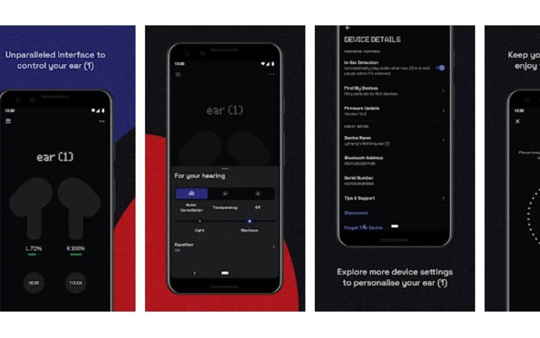 La aplicación Nothing Ear 1 se publica en Play Store, revelando las características principales