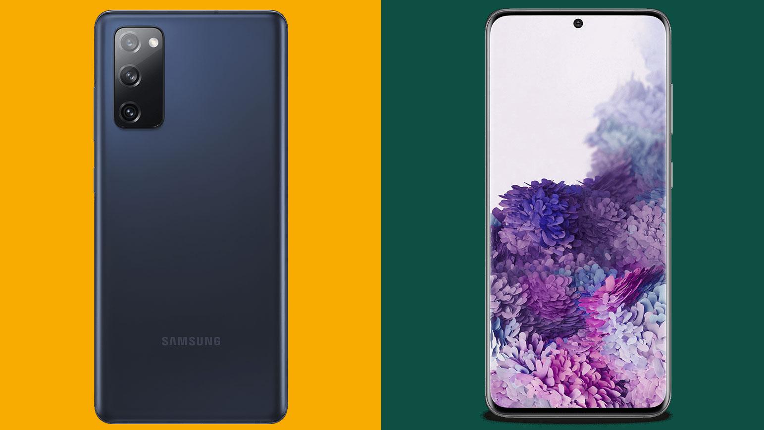 Samsung Galaxy S20 FE contra Samsung Galaxy S20