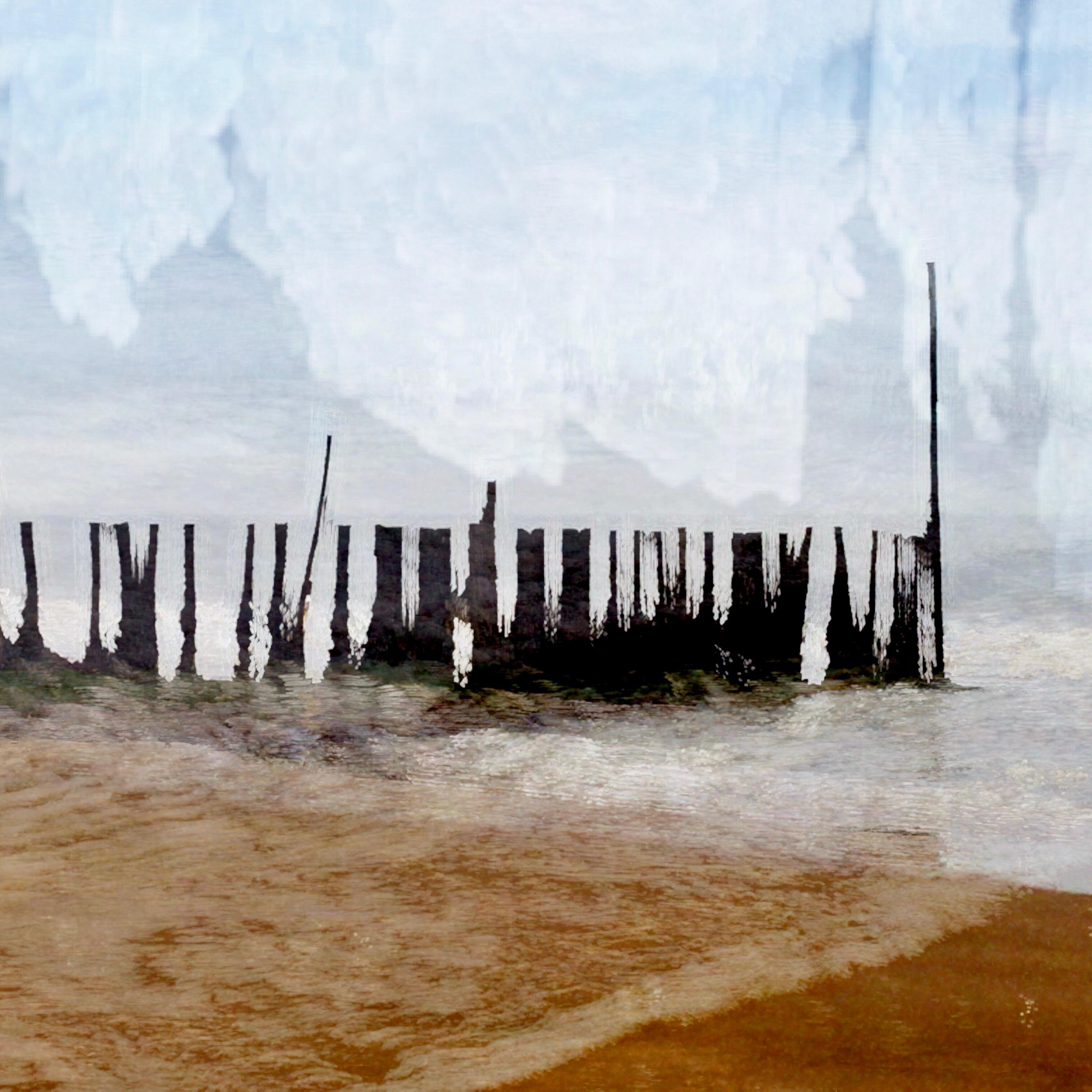 Un ejemplo de una foto del movimiento intencional de la cámara en la playa