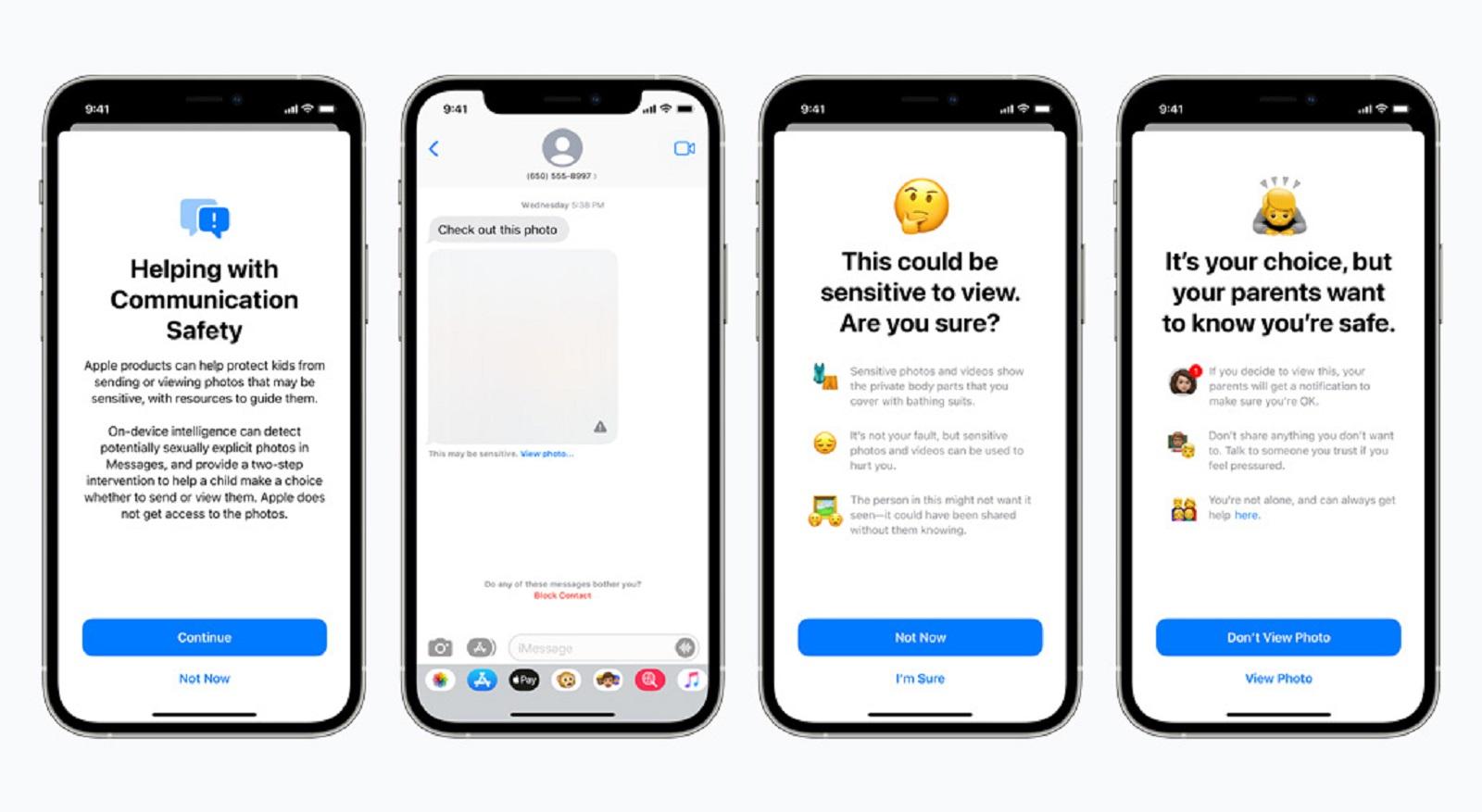 Imágenes que muestran el bloqueo para niños de Apple