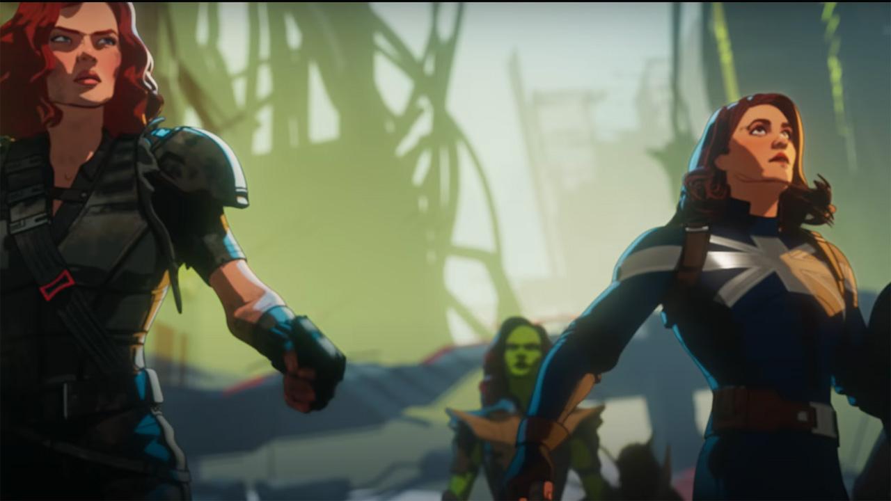 Capitán Carter, Black Widow y Gamora en el tráiler de mitad de temporada de What If