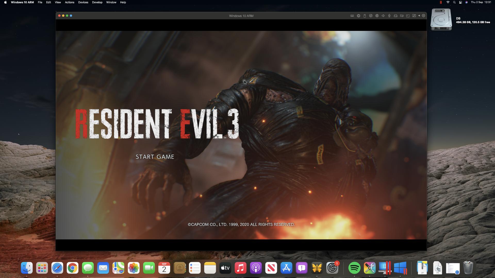 Resident Evil 3 Remake en una Mac mini M1 a través de Steam