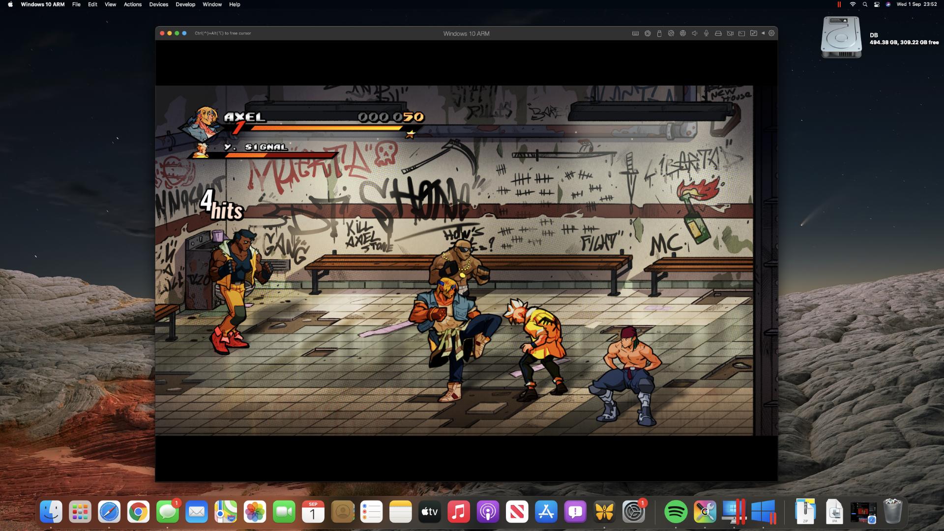 Streets of Rage 4 en una Mac mini M1 a través de Steam