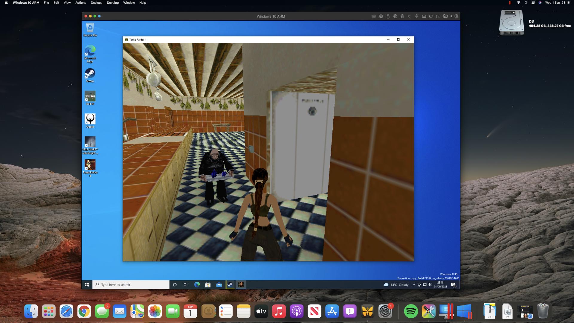 Tomb Raider II en una Mac mini M1 a través de Steam