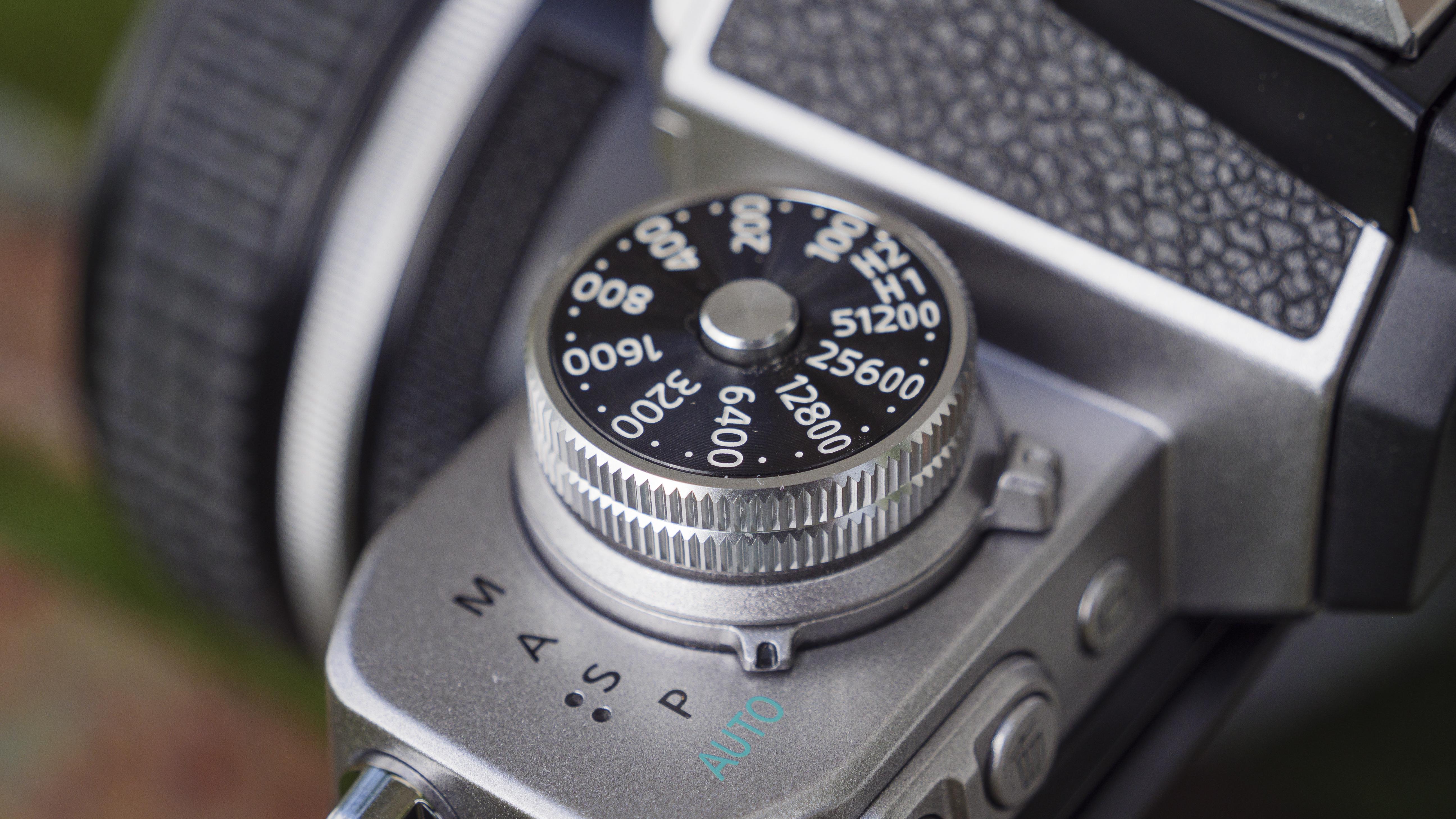 El dial ISO de la Nikon Z fc