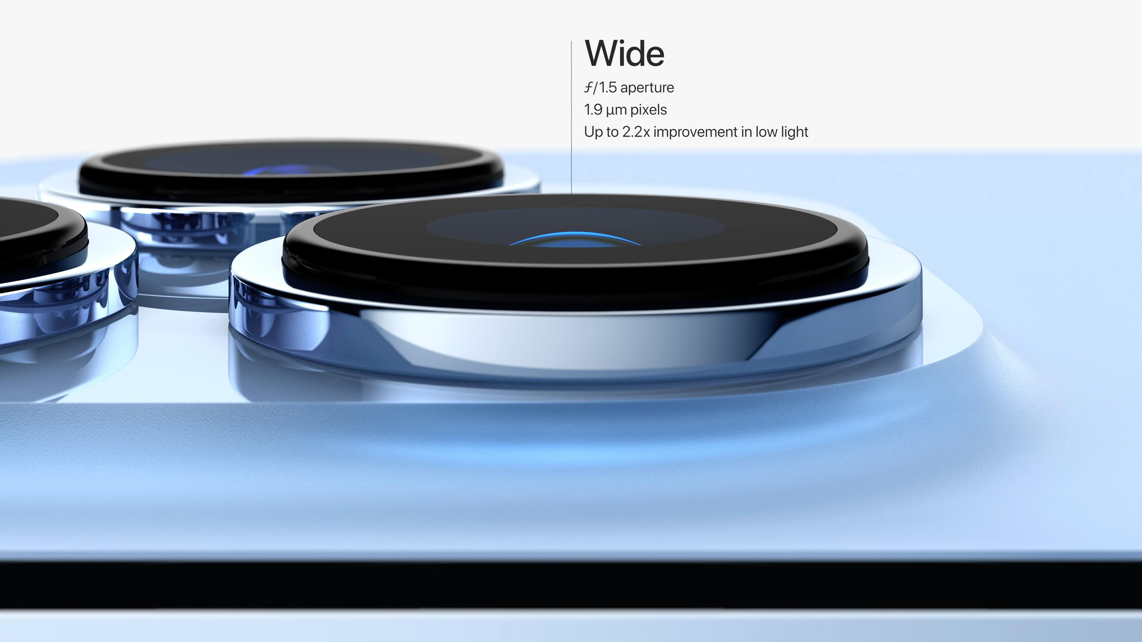 El módulo de la cámara del iPhone 13 Pro visto de lado