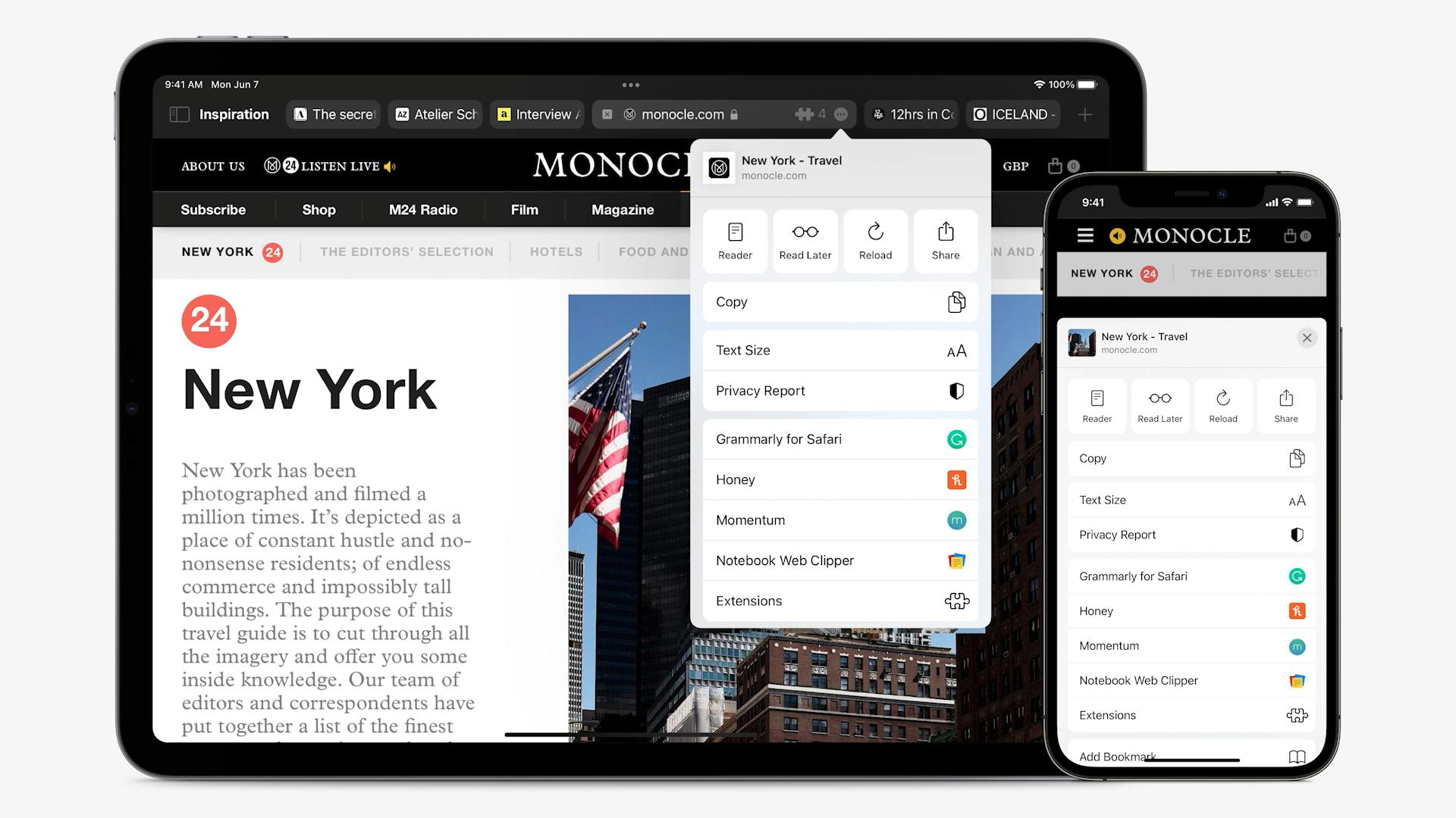 Captura de pantalla de WWDC 2021