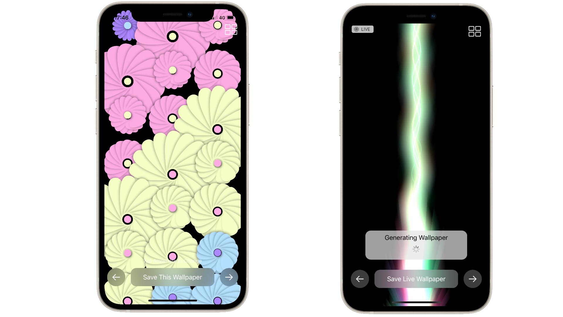 Aplicación Wallpaper 2 en iOS 15