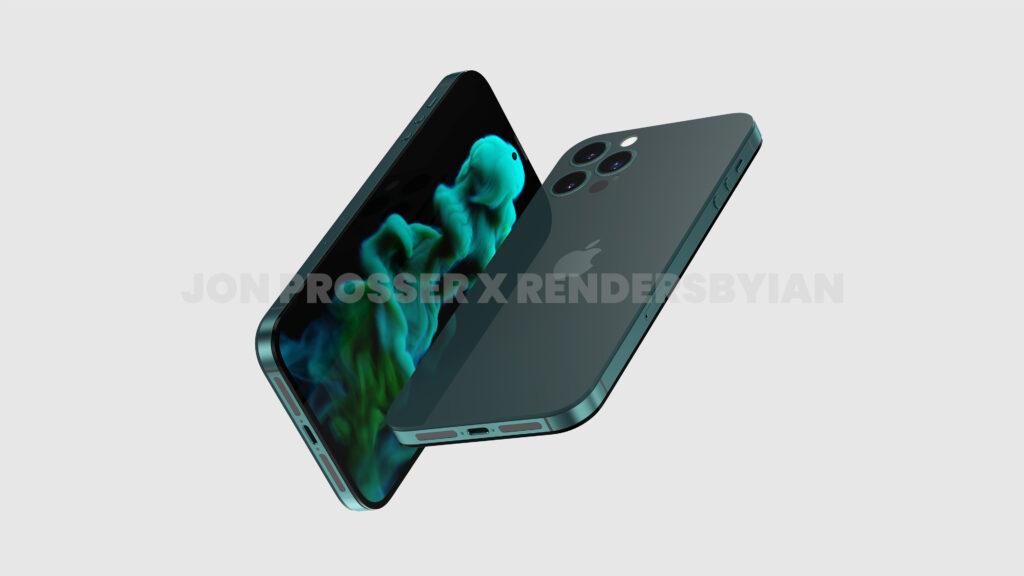 Un render no oficial que muestra el posible diseño del iPhone 14 Pro Max
