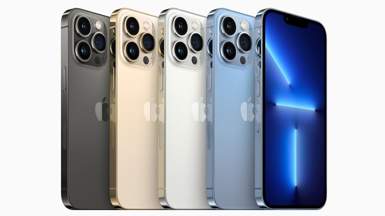 IPhone 13 Pro en cuatro colores diferentes