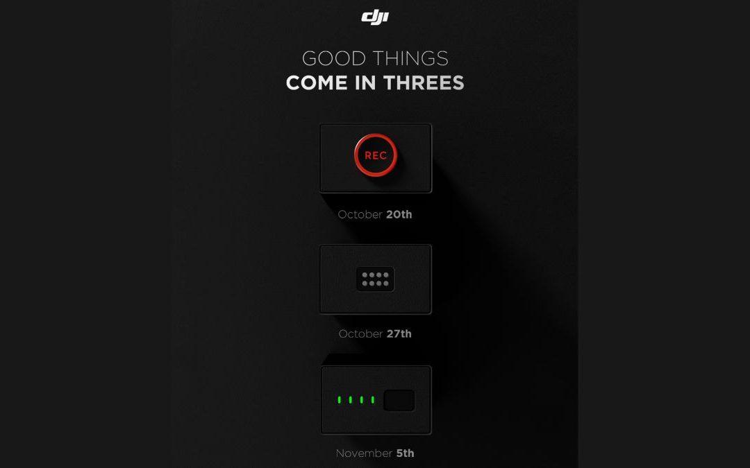 DJI anuncia un enorme lanzamiento triple: ¿vamos a ver DJI Action dos y DJI Mavic tres Pro?