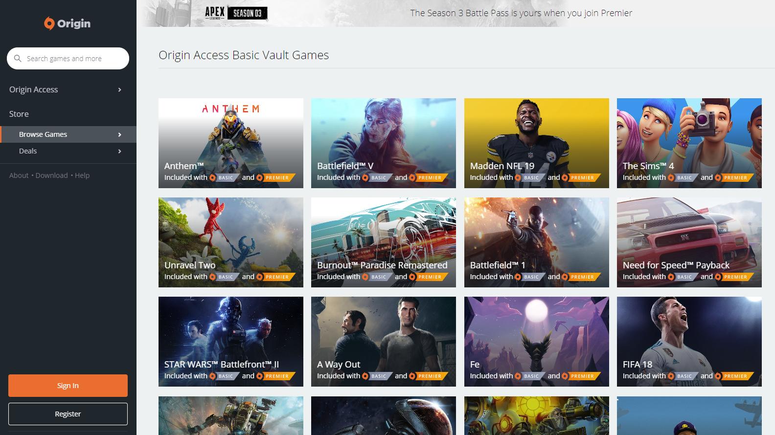 shopping where to buy save off Juega más de 200 juegos de Origin Store gratis cada mes al ...